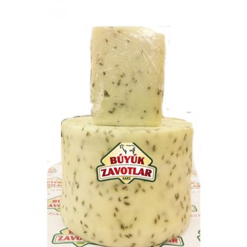 Olgunlaştırılmış Kimyonlu Kaşar Peyniri Şirden Mayalı 1 kg