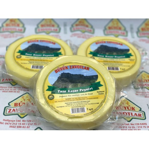 Vakumlu Taze Kaşar Peyniri Şirden Mayalı 1 kg